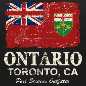 Ontario Flag - Canada - Vintage Look T-shirts - Vrouwen T-shirt met V-hals