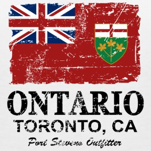 Ontario Flag - Canada - Vintage Look T-Shirts - Women's V-Neck T-Shirt