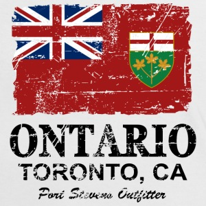 Ontario Flag - Canada - Vintage Look Tee shirts - T-shirt contraste Femme