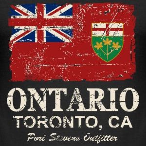 Ontario Flag - Canada - Vintage Look T-shirts - Slim Fit T-shirt herr
