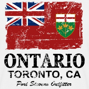 Ontario Flag - Canada - Vintage Look T-Shirts - Männer T-Shirt