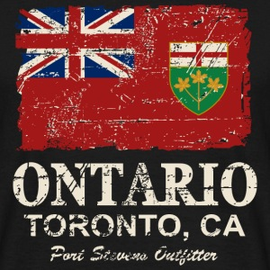 Ontario Flag - Canada - Vintage Look T-Shirts - Men's T-Shirt