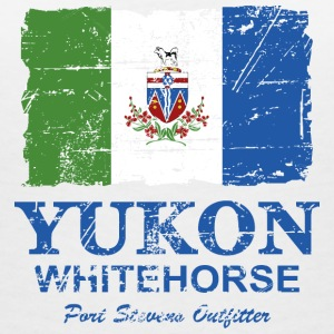 Yukon Flag - Canada - Vintage Look T-Shirts - Women's V-Neck T-Shirt