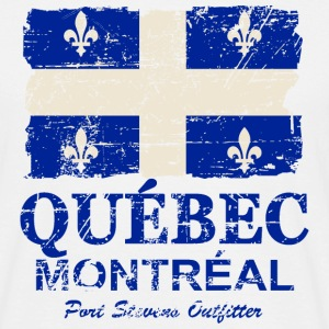 Québec  Flag - Canada - Vintage Look Tee shirts - T-shirt Homme