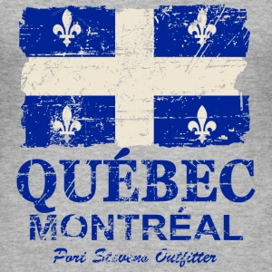 Québec  Flag - Canada - Vintage Look T-Shirts - Men's Slim Fit T-Shirt
