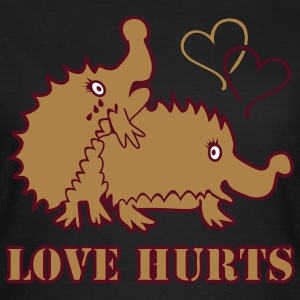 Love Hurts Hedgehogs T-Shirts - Frauen T-Shirt