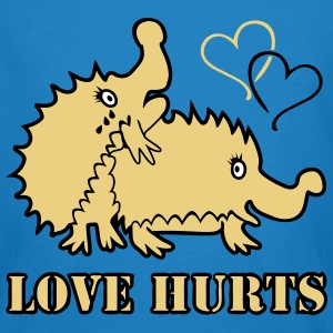 Love Hurts Hedgehogs T-shirts - Mannen Bio-T-shirt