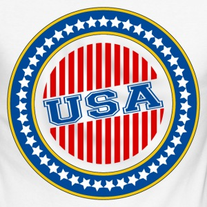 USA - United States Long sleeve shirts - Men's Long Sleeve Baseball T-Shirt