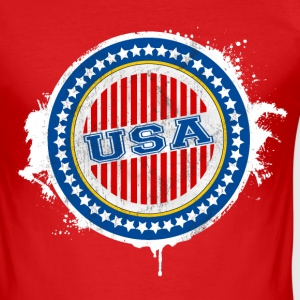 USA - United States of America T-Shirts - Men's Slim Fit T-Shirt