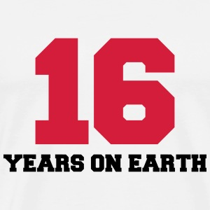16 years on earth T-shirts - Mannen Premium T-shirt