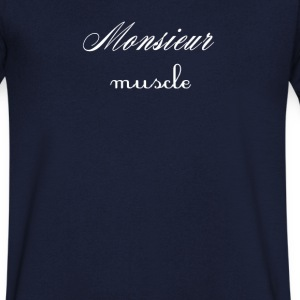 Monsieur Muscle T-Shirts - Men's V-Neck T-Shirt