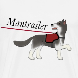 Mantra parter with leash T-skjorter - Premium T-skjorte for menn