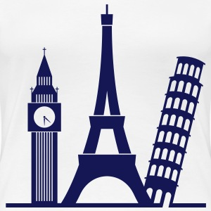 Europe / London / Paris / Pisa T-Shirts - Women's Premium T-Shirt