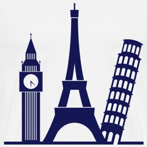 Europa / London / Paris / Pisa T-skjorter - Premium T-skjorte for menn