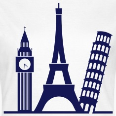 Europe / London / Paris / Pisa T-Shirts