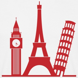 Europa / London / Paris / Pisa T-Shirts - Männer T-Shirt