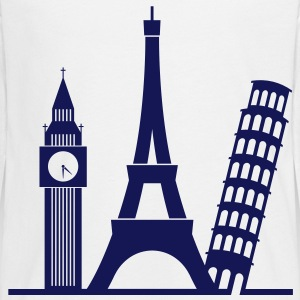 Europe / London / Paris / Pisa Long Sleeve Shirts - Teenagers' Premium Longsleeve Shirt