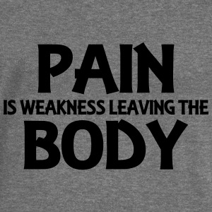 Pain is weakness leaving the body Hoodies & Sweatshirts - Women's Boat Neck Long Sleeve Top