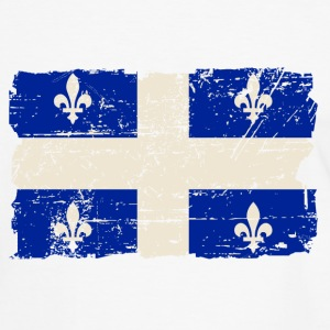 Québec  Flag - Canada - Vintage Look T-Shirts - Men's Ringer Shirt