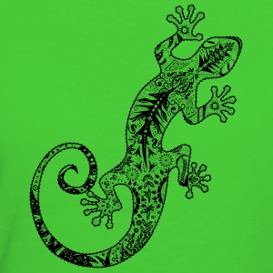 gecko made from various ornaments T-Shirts - Women's Organic T-shirt