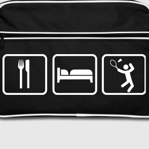Eat Sleep Badminton Tassen & rugzakken - Retro-tas