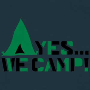 yes we camp logo design  T-Shirts - Männer T-Shirt