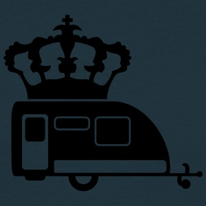 Campingvogn trailer King Queen King T-skjorter - T-skjorte for menn