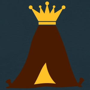 Kung Crown King Camping Tält T-shirts - T-shirt herr