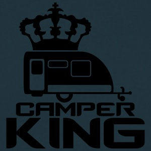 Camper Trailer Camper King King Queen Crown T-Shirts - Men's T-Shirt