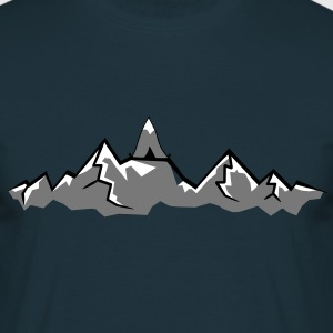 Alps mountains tent tents top mountains at T-Shirts - Men's T-Shirt