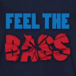 Feel the bass - Mannen T-shirt met V-hals