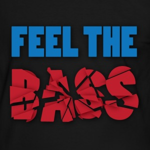 Feel the bass - Mannen contrastshirt