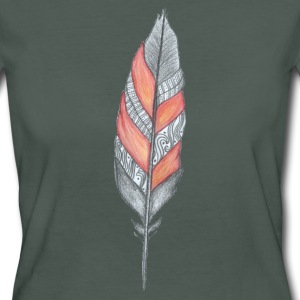 Orange feather T-Shirts - Women's Organic T-shirt