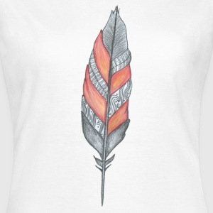 Orange feather T-shirts - T-shirt dam
