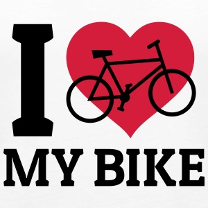I love my bike rakastan my bike Topit - Naisten premium hihaton toppi