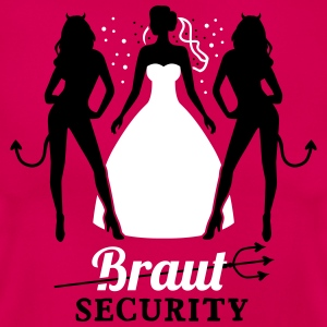 JGA - Braut security - Braut - Team - Teufel 2C T-Shirts - Frauen T-Shirt