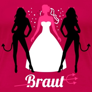 JGA - Braut - Braut security - Team - Teufel 3C T-Shirts - Frauen Premium T-Shirt