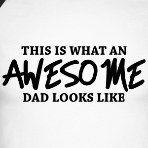 This is what an awesome dad looks like Långärmade T-shirts - Långärmad basebolltröja herr