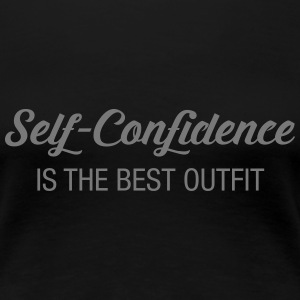 Self-Confidence Is The Best Outfit Koszulki - Koszulka damska Premium