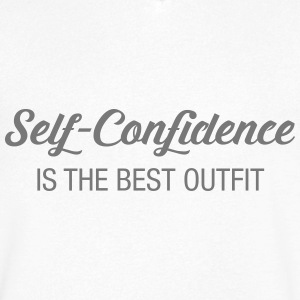 Self-Confidence Is The Best Outfit T-shirts - T-shirt med v-ringning herr