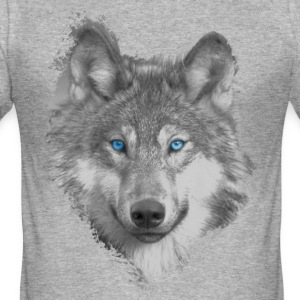 Wolf T-Shirts - Männer Slim Fit T-Shirt