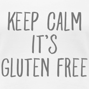 Keep Calm It's Gluten Free T-shirts - Premium-T-shirt dam