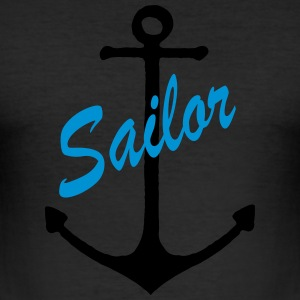 Anker Sailor - Männer Slim Fit T-Shirt