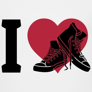 I love sneakers jeg elsker sneakers T-shirts - Teenager premium T-shirt