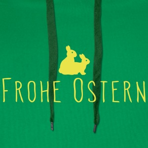 Frohe Ostern - Frohe Hasen - Männer Premium Hoodie