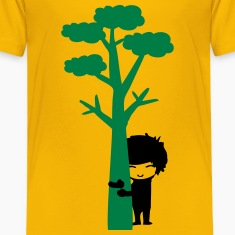 Tree hugger boy Teenage Premium T-Shirt