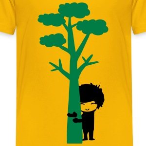 Tree hugger boy Teenage Premium T-Shirt - Teenage Premium T-Shirt