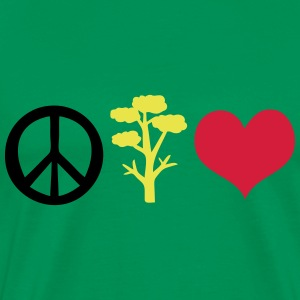 Peace tree heart earth day Men's Premium T-Shirt - Men's Premium T-Shirt