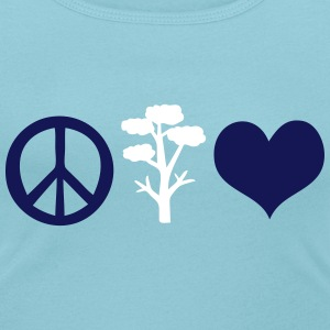 Peace love save the trees Women's Scoop Neck T-Shi - Women's Scoop Neck T-Shirt