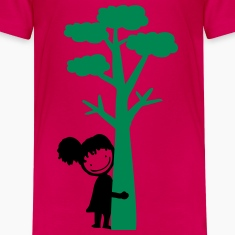 Tree hugger girl Teenage Premium T-Shirt